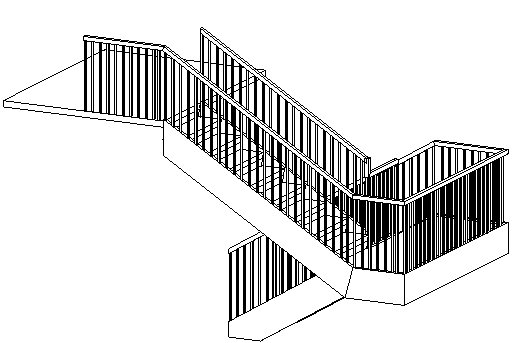 Front Elevation Railing : Curso online revit architecture barandillas en escaleras