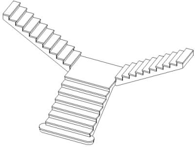 楼梯立体构成折纸步骤